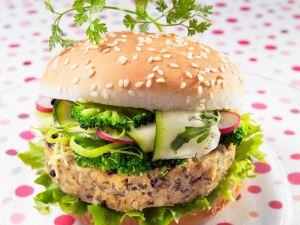 Burger mit Tofu und Brokkoli Rezept